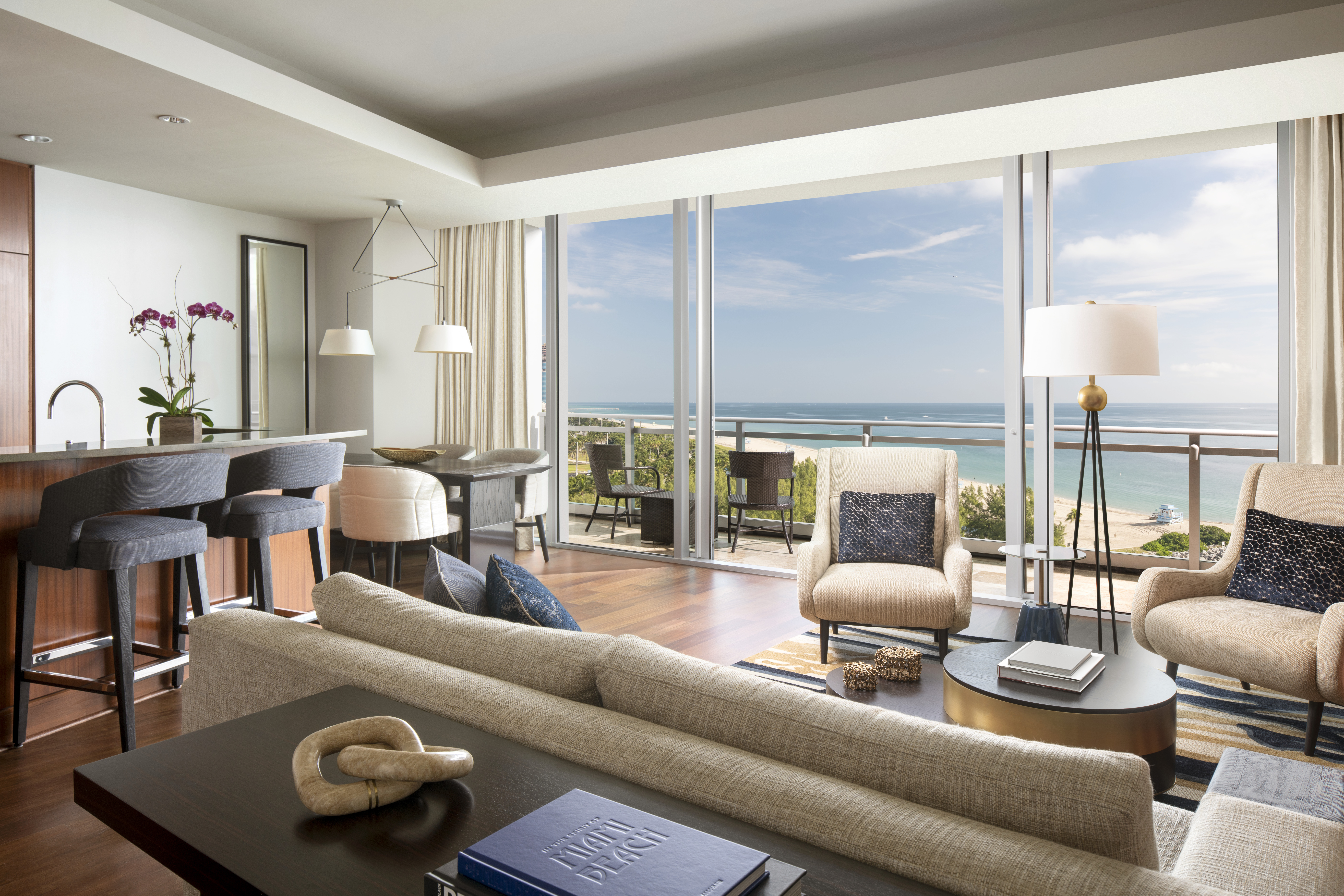 Living room with ocean view,�The Ritz-Carlton Residences, Bal Harbour